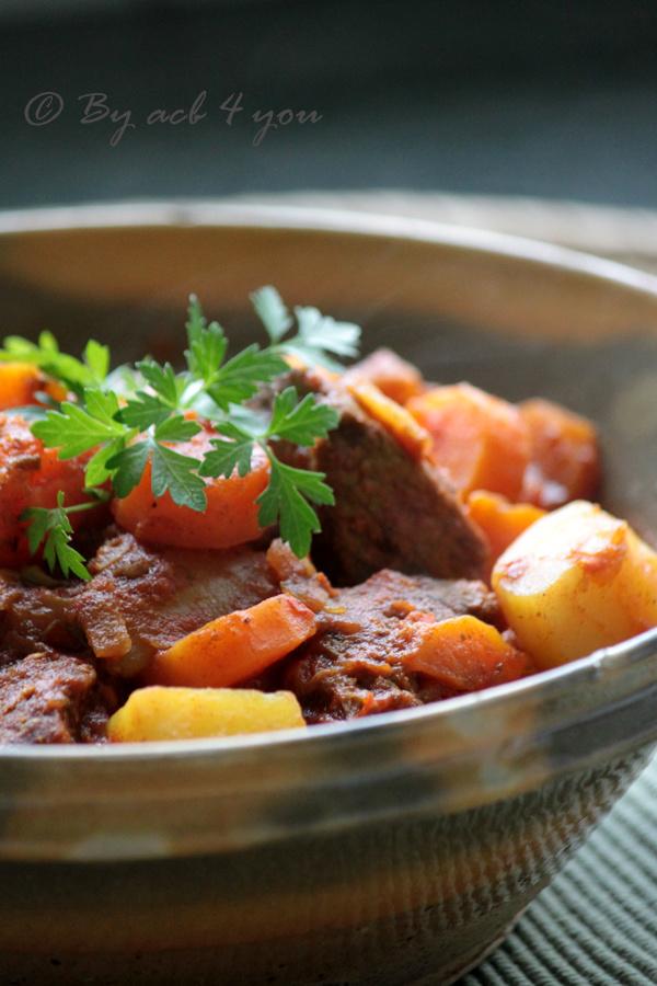 Curry d'agneau aux carottes