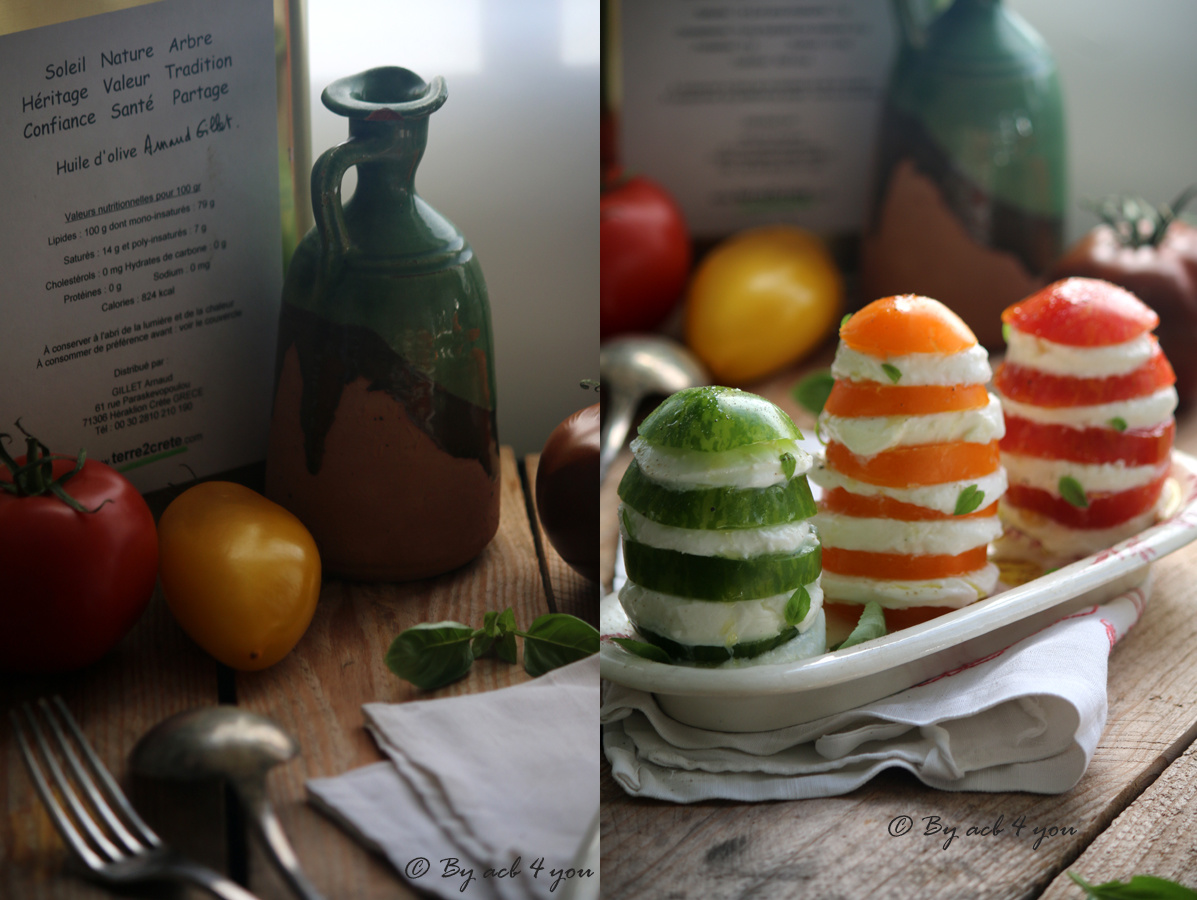 Millefeuilles de tomate et mozzarella di bufala