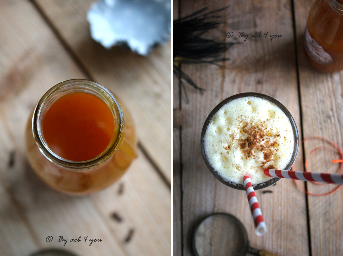 Sirop de citrouille à l'orange et 4 épices pour un pumpkin spice latte