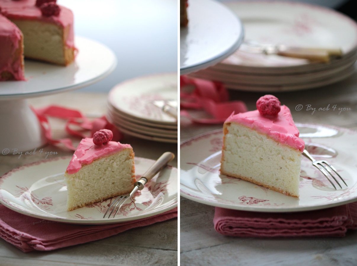 Angel cake aux pralines roses