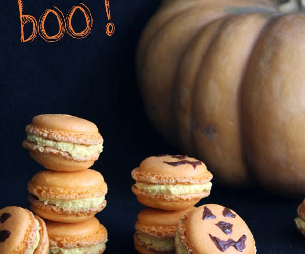 Macaron citrouille {beurre de citrouille et sirop d'érable} pour Halloween
