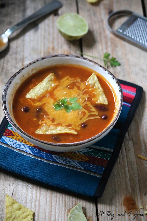 Soupe aux haricots rouges Tex Mex
