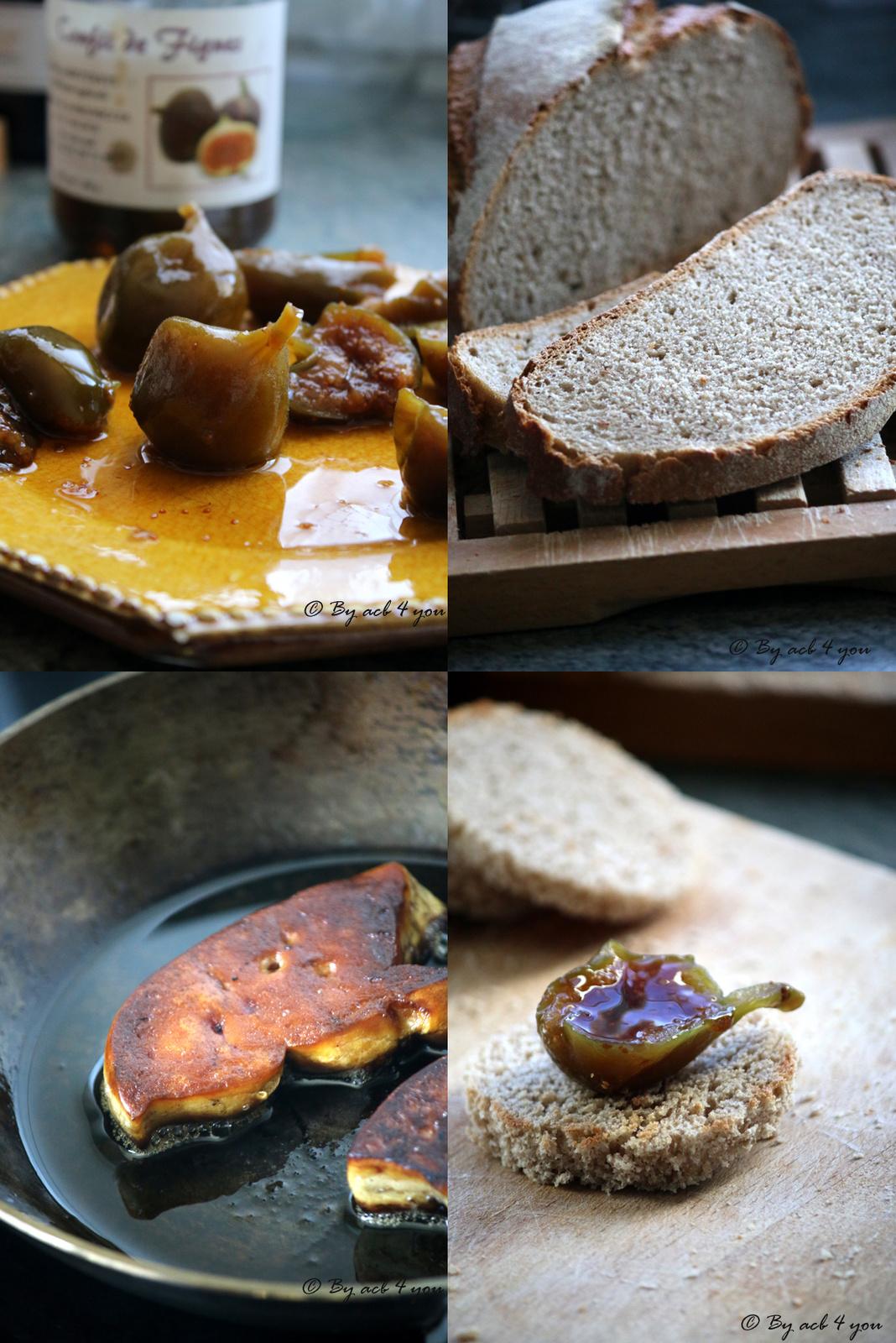 Toasts de pain à la cannelle, confit de figue corse et foie gras poêlé pour un Porto Tawny