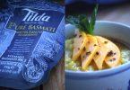 Riz basmati à la crème de coco safranée, mangue et anis vert