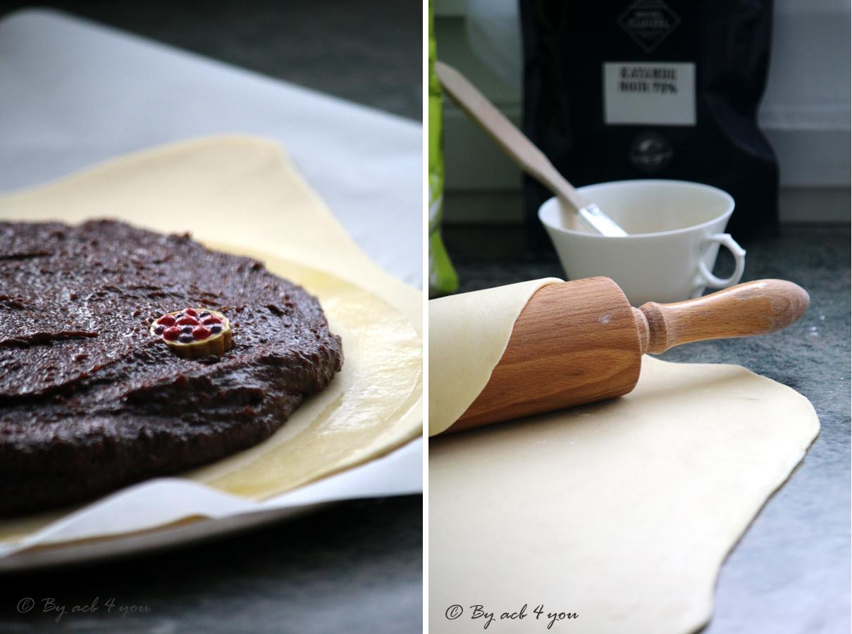 Galette des rois passionnément chocolat, un peu café et rhum !