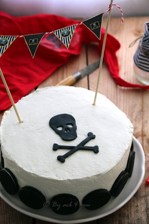 Gâteau pirate aux noisettes, chocolat et crème mascarpone vanillée