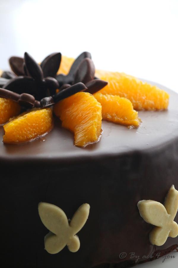 Gâteau gourmand très chocolat et orange