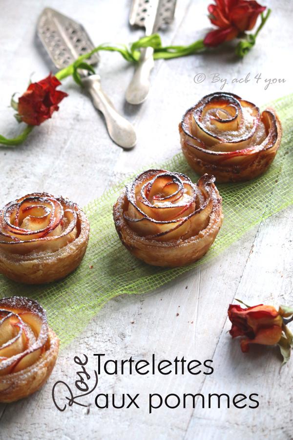 Tartelettes Rose aux pommes