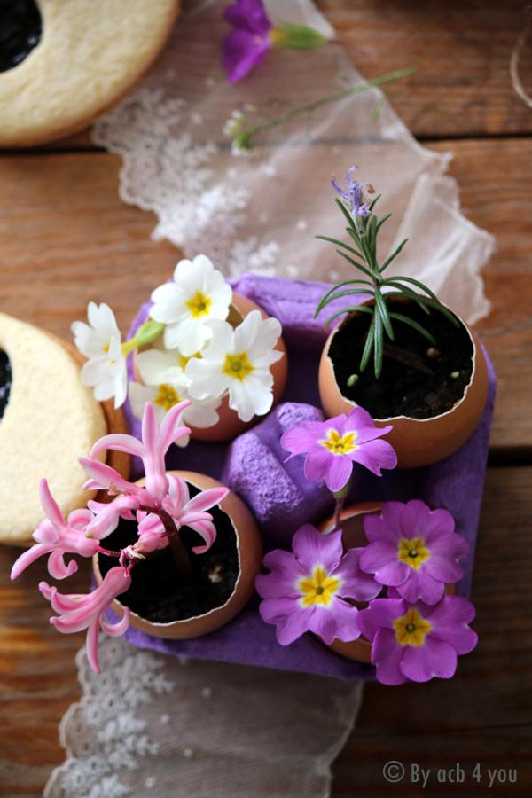Sablés de Pâques à la confiture de sureau