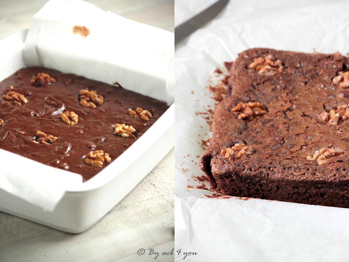 Brownie aux noix et fèves de cacao