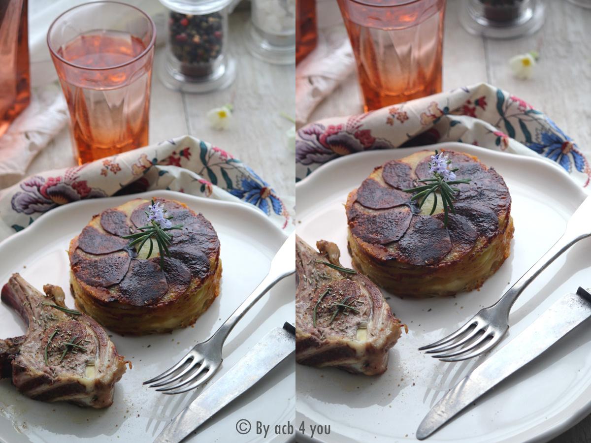 Gâteau de pommes de terre à la Tomme de Savoie pour accompagner l'agneau de Pâques