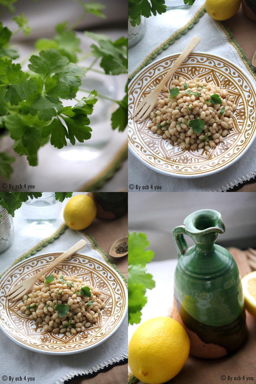 Salade de haricots blancs à la libanaise