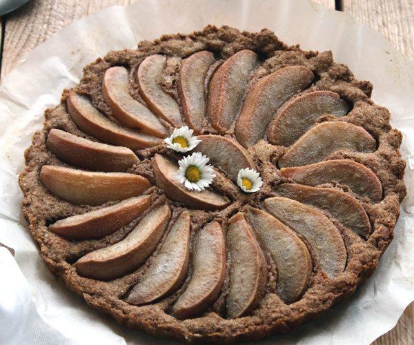 Tarte biscuitée aux poires comme un très gros spéculoos