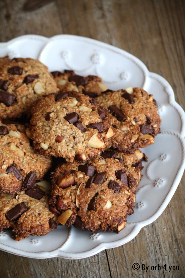 Cookies banane coco chocolat et noix du Brésil {vegan}