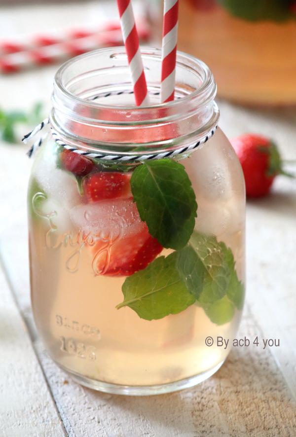 jar de thé vert glacé maison