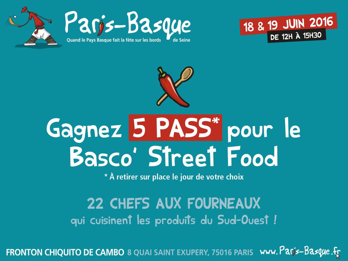 Paris basque et Basco'street food {5 pass à gagner}