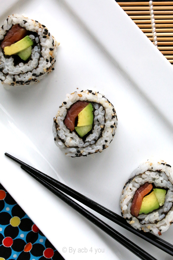 California rolls saumon et avocat
