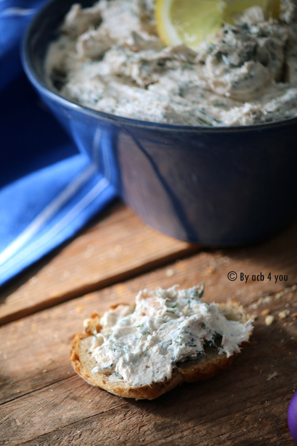 Rillettes de thon au fromage fouetté