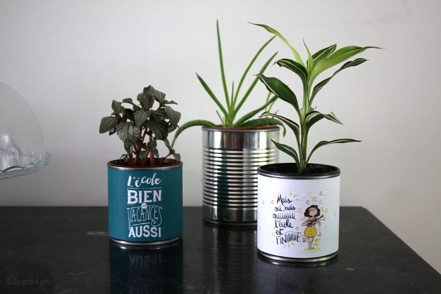 Cadeaux pour les maîtresses et recyclage de boites de conserve {D.I.Y.}
