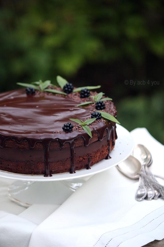 Gâteau tout chocolat, café et rhum