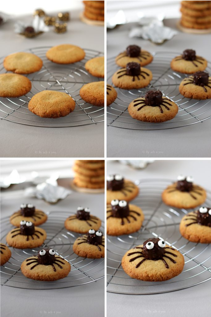 spider cookies d'Halloween