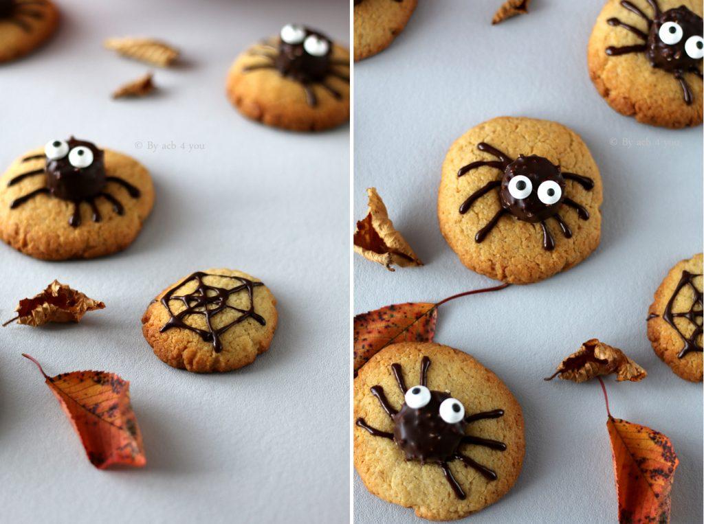 Spider cookies au beurre de cacahuètes
