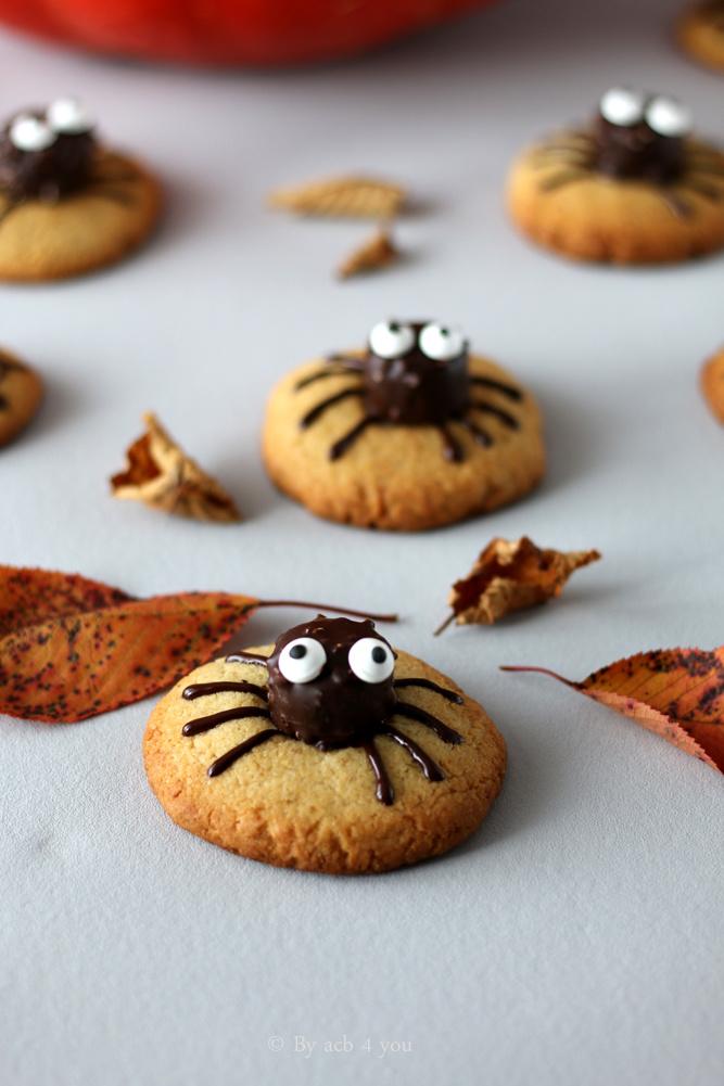 Cookies au beurre de cacahuète pour Halloween ou Spider cookies !