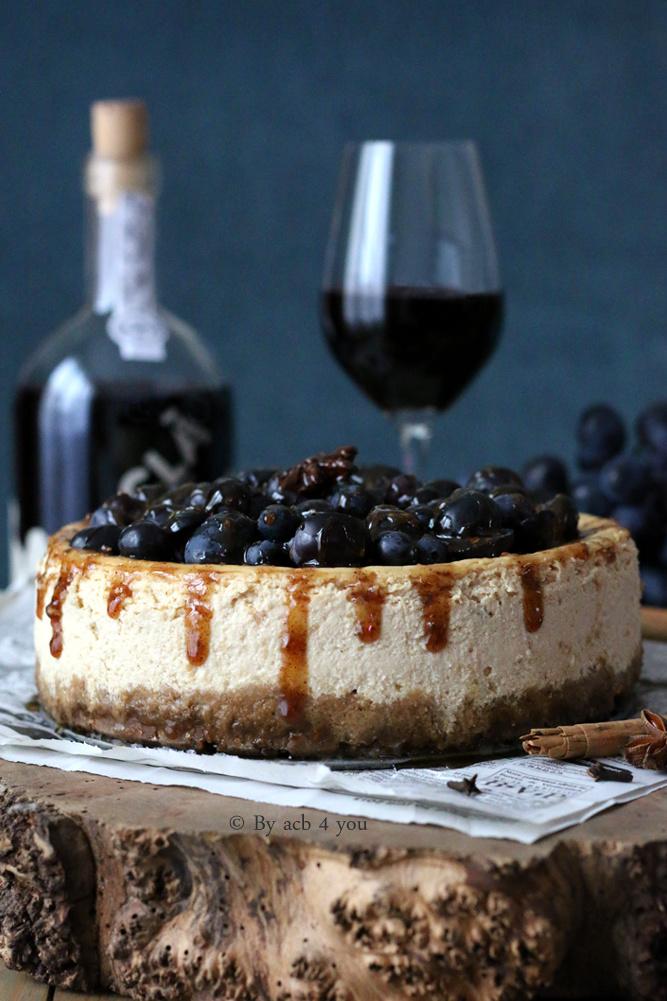Cheesecake au raisin noir et au miel épicé pour un Porto Ruby