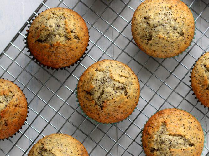 Muffins au pavot et citron bergamote