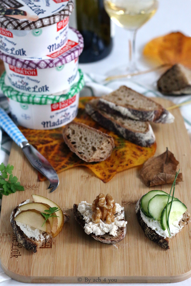 Tartines de fromage fouetté madame Loïk pour un apéro facile {concours}