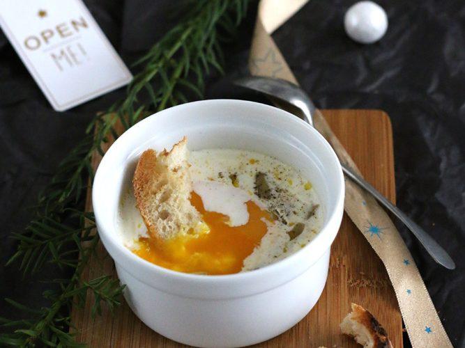Œuf cocotte au foie gras