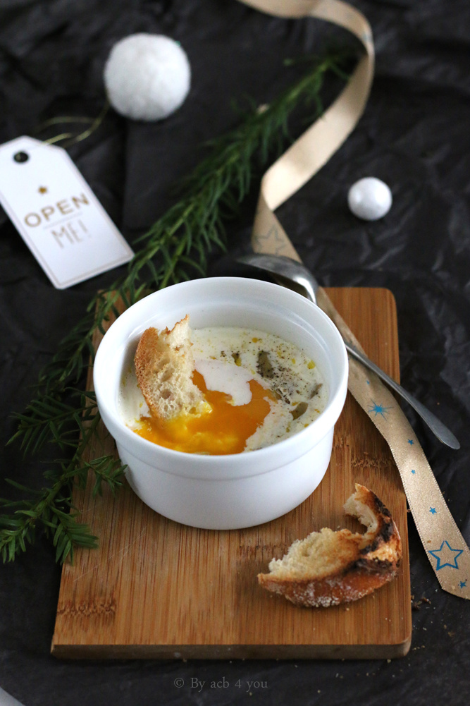 Œuf cocotte au foie gras {concours}