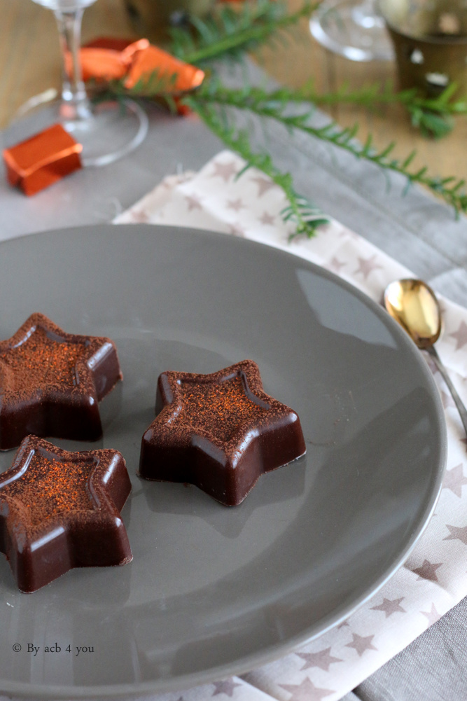 Fondant au chocolat et crème de marron de Noël
