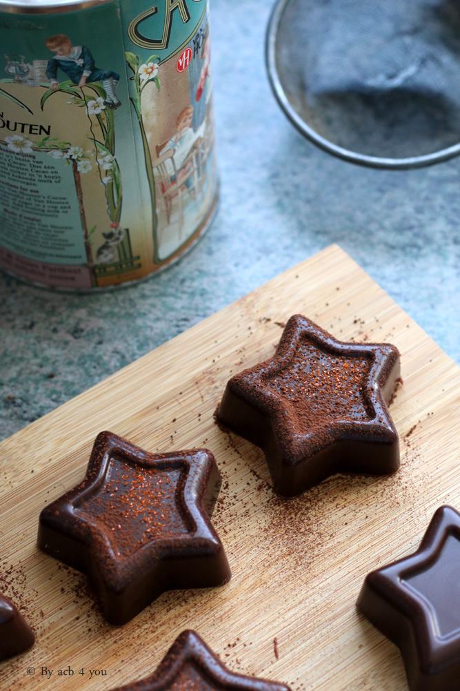 Fondant au chocolat et à la crème de marrons (sans cuisson)