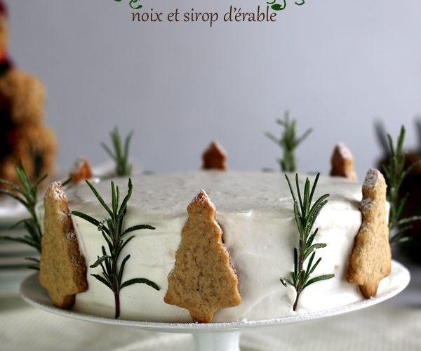Gâteau de Noël aux noix et sirop d'érable