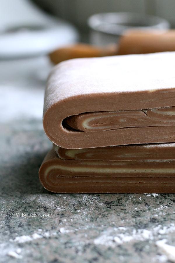 La pâte feuilletée inversée au cacao