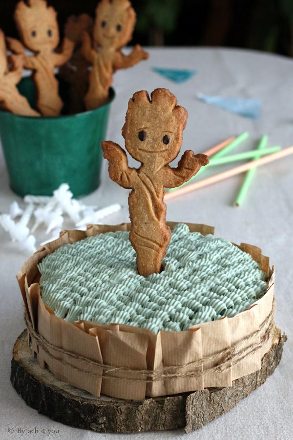 Gâteau d'anniversaire Baby Groot