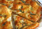 Tarte fine aux topinambours et mozzarella