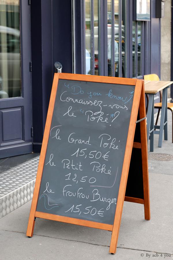 Frou frou, le bistrot contemporain parisien à tendance Poké food