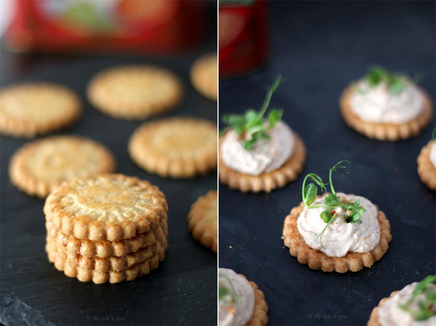 Toast sardine, ricotta et piment d'Espelette