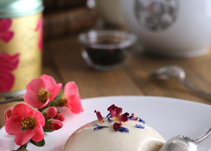 Panna cotta au chocolat blanc et Easter tea