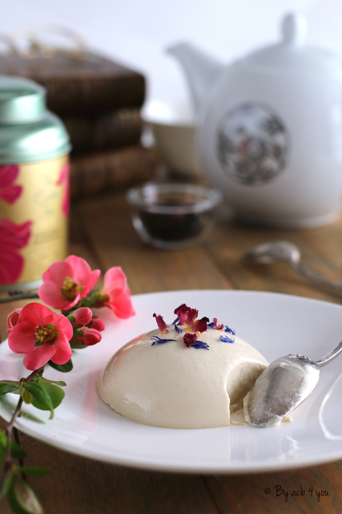 Panna cotta au chocolat blanc et Easter tea
