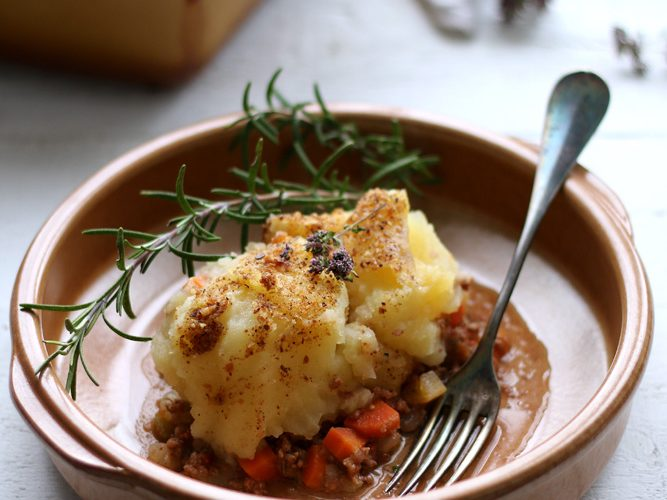 Hachis parmentier, la bonne planque pour les légumes !