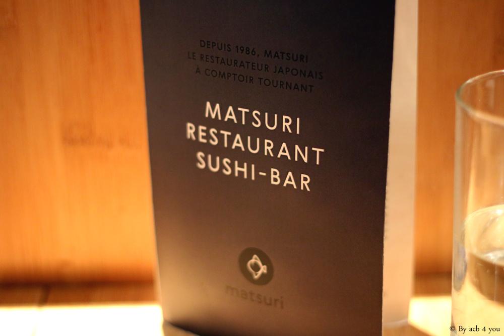 Matsuri, le restaurant sushi-bar à comptoir tournant