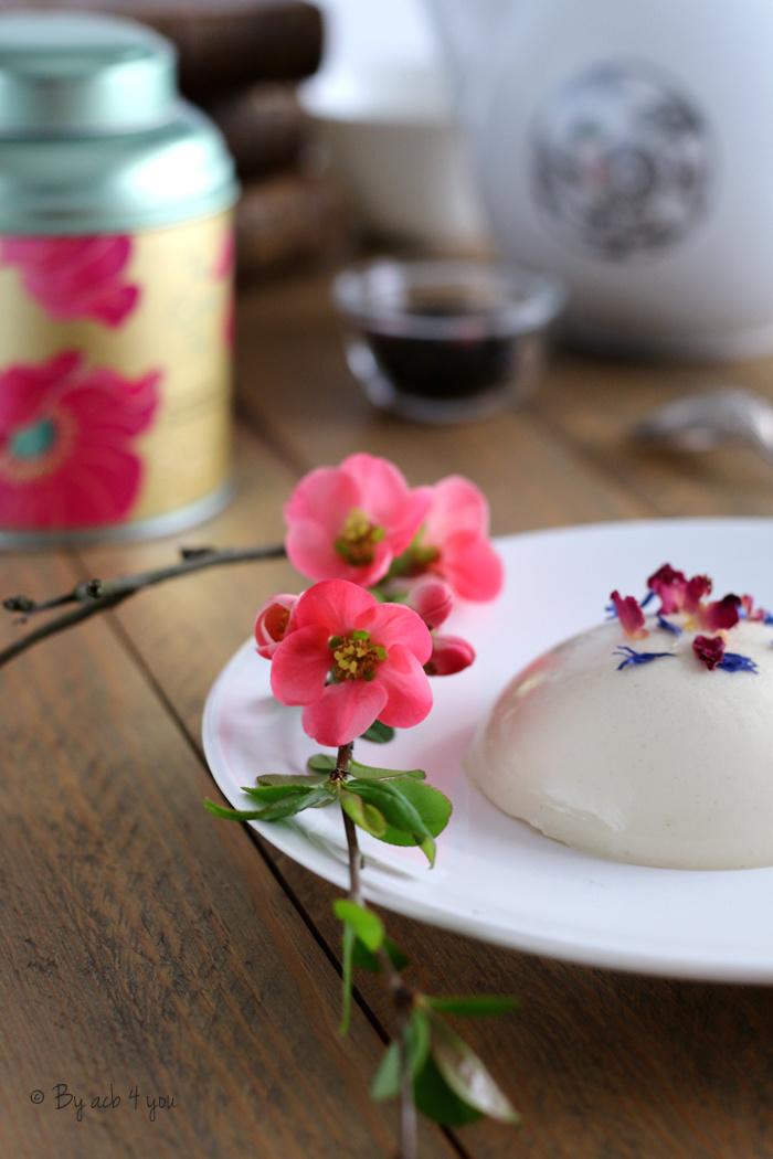 Panna cotta au chocolat blanc et Easter tea {Concours}