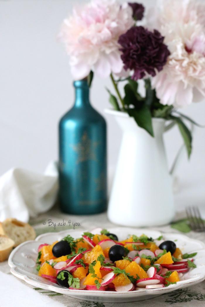 Salade de radis à l'orange