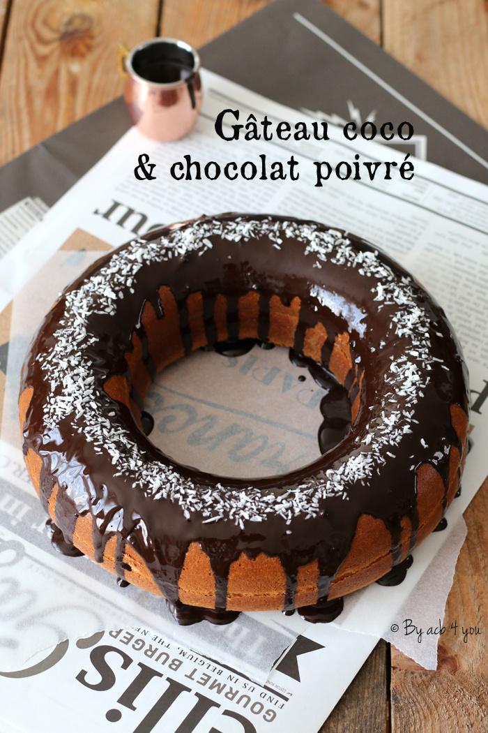Gâteau coco et chocolat poivré