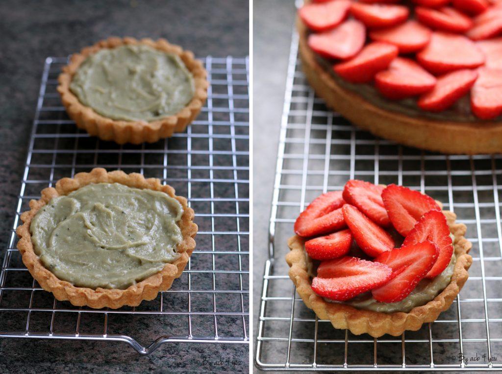 tartelettes aux fraises matcha