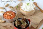 Boulettes d'agneau gingembre et combava, sauce pistache à la malgache