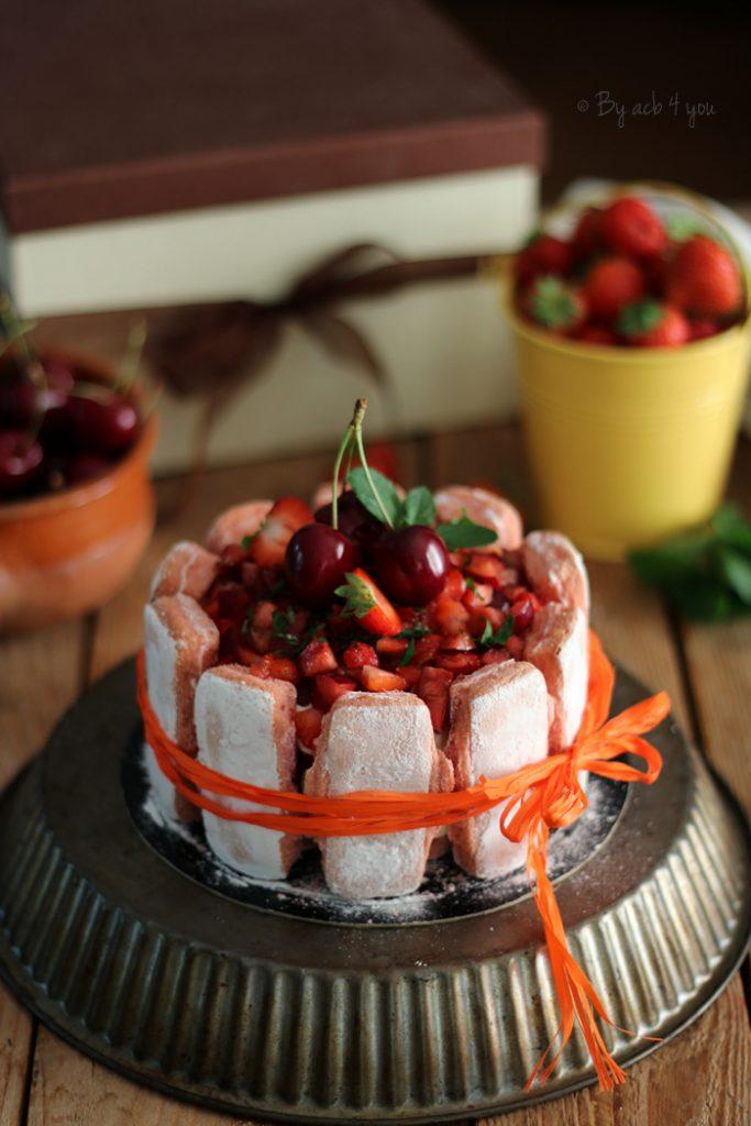 charlotte fraises et cerises